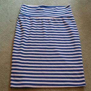 Lularoe Cassie striped skirt